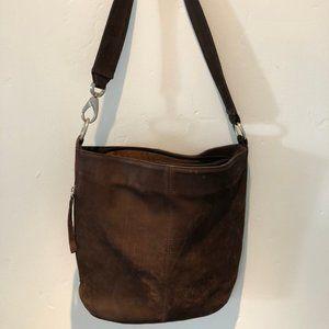 Hobo International Brown Suede Bucket Bag